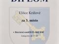 Diplom Králová Eliška Zlatý klíč
