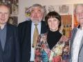 Vernisáž výstavy Chodovská tvrz - ředitel ZUŠ, starosta Prahy 11, Eva Tománková, ředitel ZŠ Donovalská